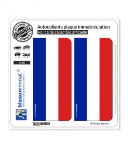 France - Drapeau Vertical | Autocollant plaque immatriculation