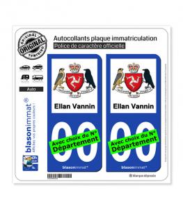Ile de Man - Armoiries | Autocollant plaque immatriculation