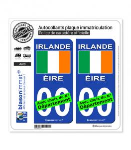 Irlande - Drapeau | Autocollant plaque immatriculation