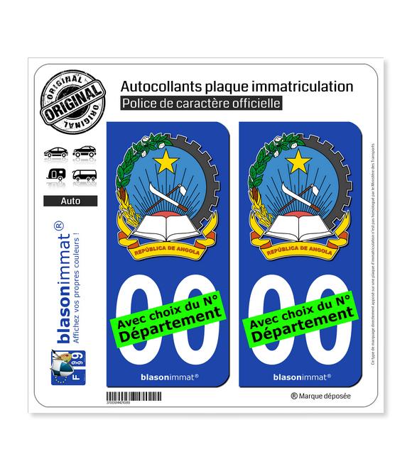 Angola - Armoiries | Autocollant plaque immatriculation