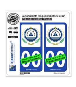 Cap-Vert - Armoiries | Autocollant plaque immatriculation