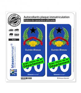 Guinée-Bissau - Armoiries | Autocollant plaque immatriculation