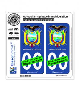 Équateur - Armoiries | Autocollant plaque immatriculation