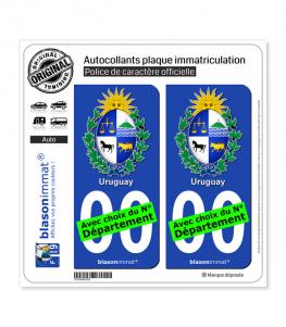 Uruguay - Armoiries | Autocollant plaque immatriculation