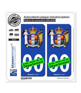 Nouvelle-Zélande - Armoiries | Autocollant plaque immatriculation