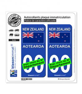 Nouvelle-Zélande - Drapeau | Autocollant plaque immatriculation