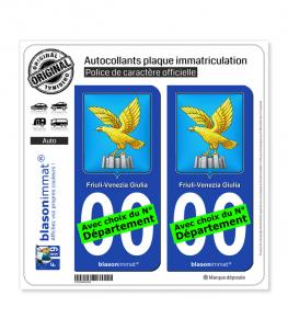 Frioul-Vénétie julienne - Armoiries (Italie) | Autocollant plaque immatriculation
