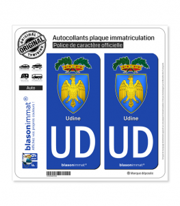 UD Udine Province - Armoiries (Italie) | Autocollant plaque immatriculation