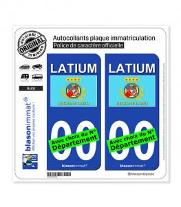 Latium Région - Drapeau (Italie) | Autocollant plaque immatriculation