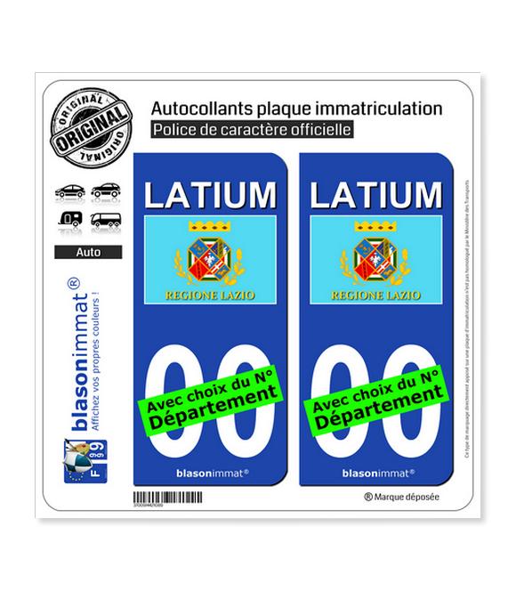 Latium Région - Drapeau (Italie)   Autocollant plaque immatriculation