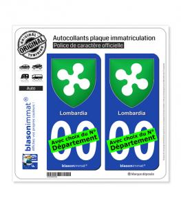 Lombardie Région - Blason (Italie) | Autocollant plaque immatriculation