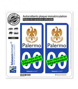 Palerme - Città | Autocollant plaque immatriculation