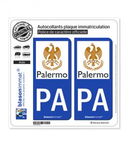 PA Palerme - Città | Autocollant plaque immatriculation