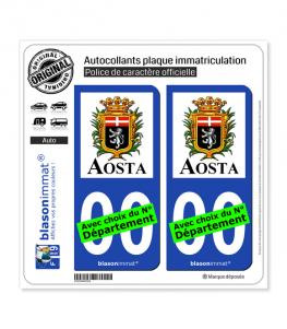 Aoste Ville - Città | Autocollant plaque immatriculation