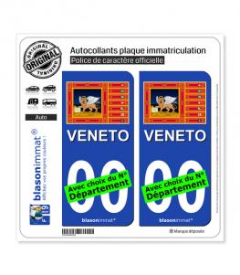 Vénétie Région - Drapeau (Italie) | Autocollant plaque immatriculation