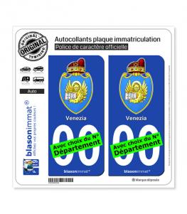 Venise Ville - Armoiries | Autocollant plaque immatriculation