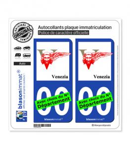 Venise Ville - Sceau | Autocollant plaque immatriculation