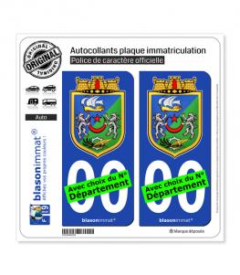 Alger - Armoiries | Autocollant plaque immatriculation