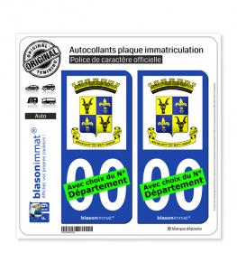Antananarivo - Armoiries | Autocollant plaque immatriculation