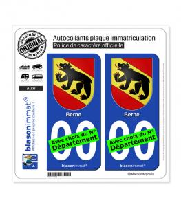 Berne - Armoiries | Autocollant plaque immatriculation