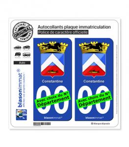 Constantine - Armoiries Coloniales | Autocollant plaque immatriculation