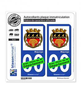 Majunga - Armoiries | Autocollant plaque immatriculation