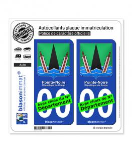 Pointe-Noire - Armoiries | Autocollant plaque immatriculation
