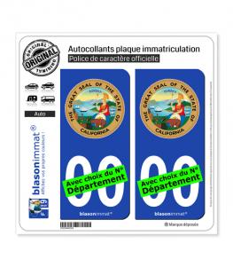 Californie - Armoiries (États-Unis) | Autocollant plaque immatriculation