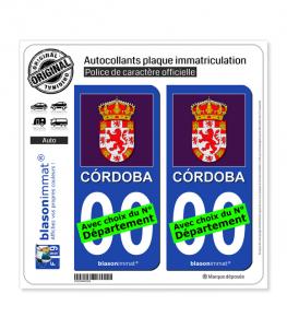 Cordoue Province - Armoiries Drapées (Espagne) | Autocollant plaque immatriculation