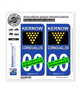 Cornouailles - Drapeau du Duc | Autocollant plaque immatriculation