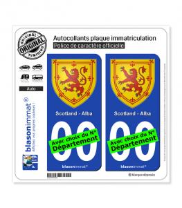 Écosse - Armoiries | Autocollant plaque immatriculation