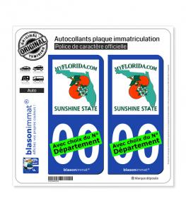 Floride - MyFlorida | Autocollant plaque immatriculation