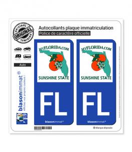 FL Floride - MyFlorida (USA) | Autocollant plaque immatriculation