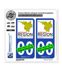 Grande Région - GECT | Autocollant plaque immatriculation
