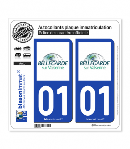01 Bellegarde-sur-Valserine - Ville | Autocollant plaque immatriculation
