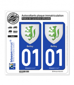 01 Belley - Armoiries | Autocollant plaque immatriculation