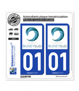 01 Belley - Agglo | Autocollant plaque immatriculation