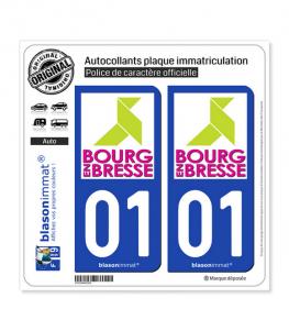 01 Bourg-en-Bresse - Tourisme | Autocollant plaque immatriculation