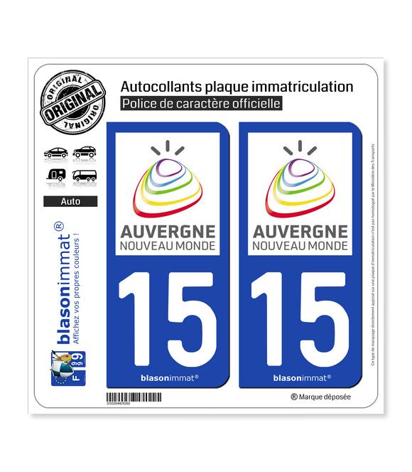 15 Auvergne - Tourisme | Autocollant plaque immatriculation