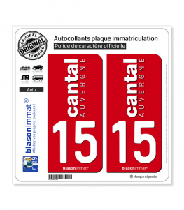 15 Cantal - Collector | Autocollant plaque immatriculation