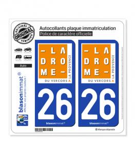 26 Drôme - Tourisme | Autocollant plaque immatriculation