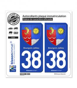 38 Bourgoin-Jallieu - Armoiries | Autocollant plaque immatriculation