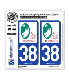 38 Chartreuse - Parc Naturel Régional | Autocollant plaque immatriculation
