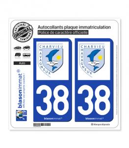38 Charvieu-Chavagneux - Commune | Autocollant plaque immatriculation