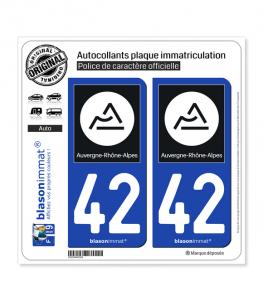 42 Auvergne-Rhône-Alpes - Région II | Autocollant plaque immatriculation