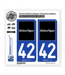 42 Rhône-Alpes - Tourisme | Autocollant plaque immatriculation
