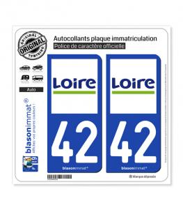 42 Loire - Département | Autocollant plaque immatriculation