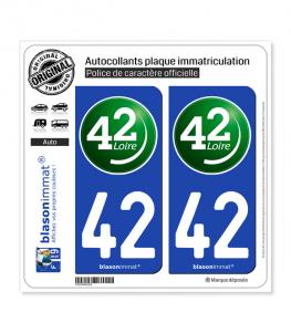 42 Loire - Département II | Autocollant plaque immatriculation