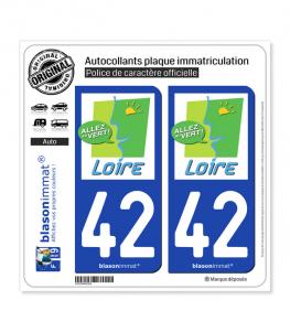 42 Loire - Tourisme | Autocollant plaque immatriculation