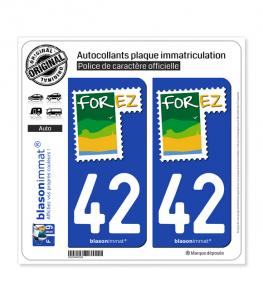 42 Montbrison - Tourisme | Autocollant plaque immatriculation